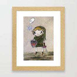 Hey, Listen! Framed Art Print