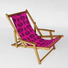 Power Tiki Girl - Hibiscus - Hot Pink Sling Chair