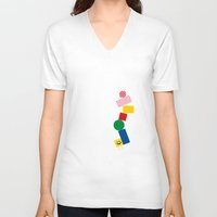 pixel V-neck T-shirts featuring Pixel by Pierre-Emmanuel Lyet