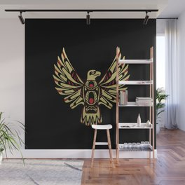 Tribal Black and Gold Eagle Digital Design Wall Mural