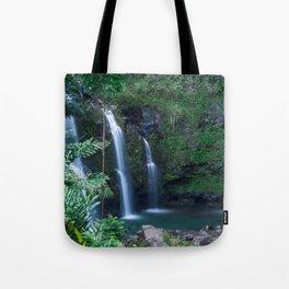Upper Waikani Falls // Horizontal Tote Bag