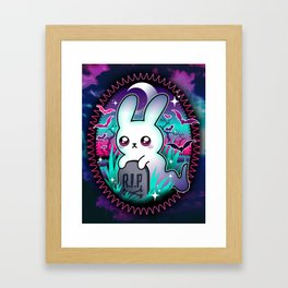 Spooky Bunny Ghost Framed Art Print