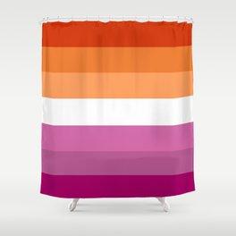 Butch Lesbian Flag Shower Curtain