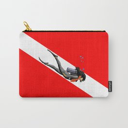 Diver And Dive Flag Carry-All Pouch