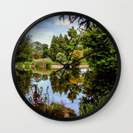 Lakeside reflections. Wall Clock