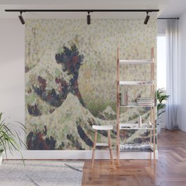 The Great Wave Of Honeydew Melon After Hokusai Wall Mural