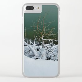 Reaching For Warmth Clear iPhone Case
