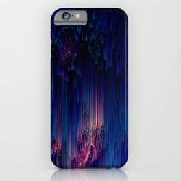Glitch of Fantasy - Abstract Pixel Art iPhone Case
