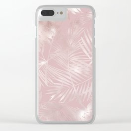 Rose Gold Shine Clear iPhone Case