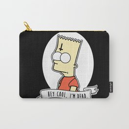 Bart Simpson Alternative Goth Hey Cool, I'm Dead Carry-All Pouch