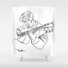 """Jakob Danger (drawn in """"Jakob Danger Line Art"""" style) Shower Curtain"""