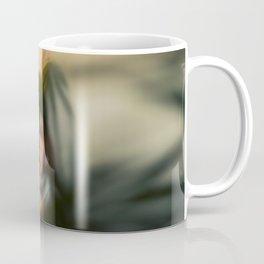 Blurred woman, dancer with plants, shadows, forest Coffee Mug