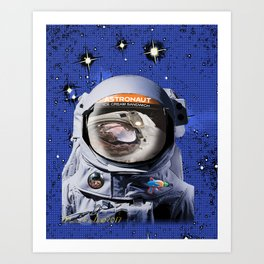 Astronaut Food Art Print