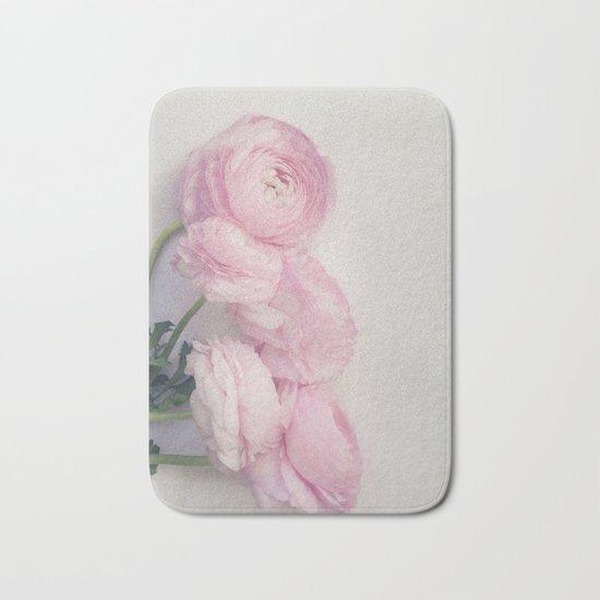 Pink Peonies Bath Mat