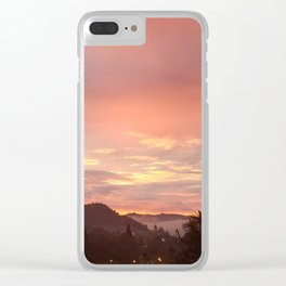 The Sunrise Outside my Window Clear iPhone Case