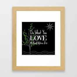 Sun Love - Black Framed Art Print