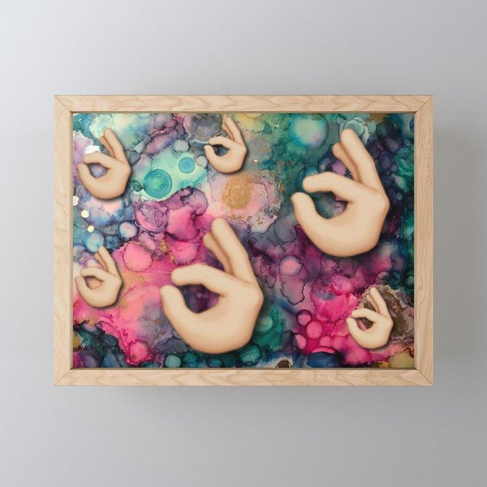 OK collage Framed Mini Art Print