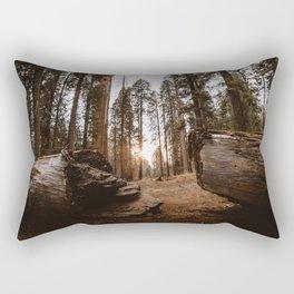 Light Between Fallen Sequoias Rectangular Pillow