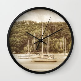 Smooth Sailing - Nostalgic Wall Clock