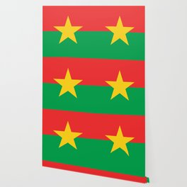 Burkinabe flag African design for home decoration. Wallpaper