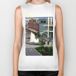 Waterfront Fountain Biker Tank