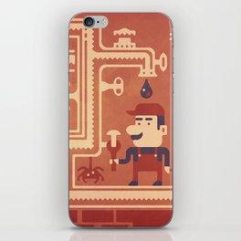 Mario at work iPhone Skin