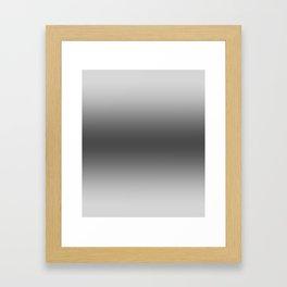 Gray to Black Horizontal Bilinear Gradient Framed Art Print