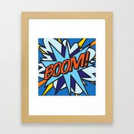 Comic Book BOOM! Framed Art Print