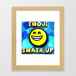 emoji Smash up Framed Art Print