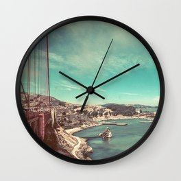 San Francisco Bay from Golden Gate Bridge Wall Clock