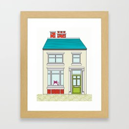 Tabs in his Victorian Terrace house Framed Art Print