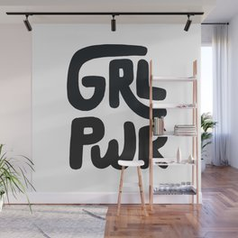 Grl Pwr black and white Wall Mural