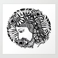 christ Art Prints featuring Christ by Tatiana FG Brito