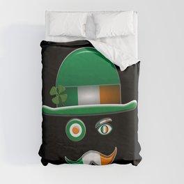 Irish Flag Face. Duvet Cover