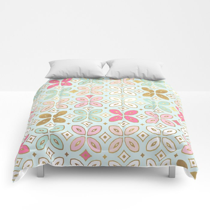 MORROCCAN TILE - ALEXA SPRING MINT Comforters