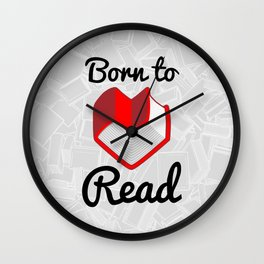 Born to Read II Wall Clock
