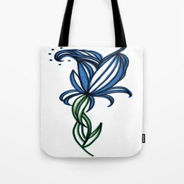 Tall Blue Tote Bag