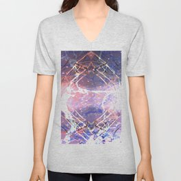 Abstract Ripple Reflection Unisex V-Neck