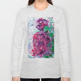 Pink and purple roses Long Sleeve T-shirt