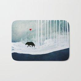 WOLF - A Love Always Carried  Bath Mat