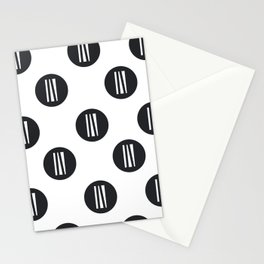 IN white logo - up in the air Stationery Cards