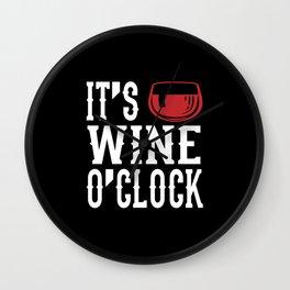 It's Wine O'Clocke Wine Time Wine Party Gift Wall Clock