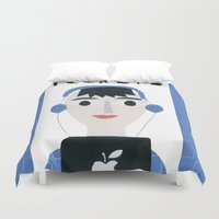 dad Duvet Covers featuring Tech Dad by Susse Collection