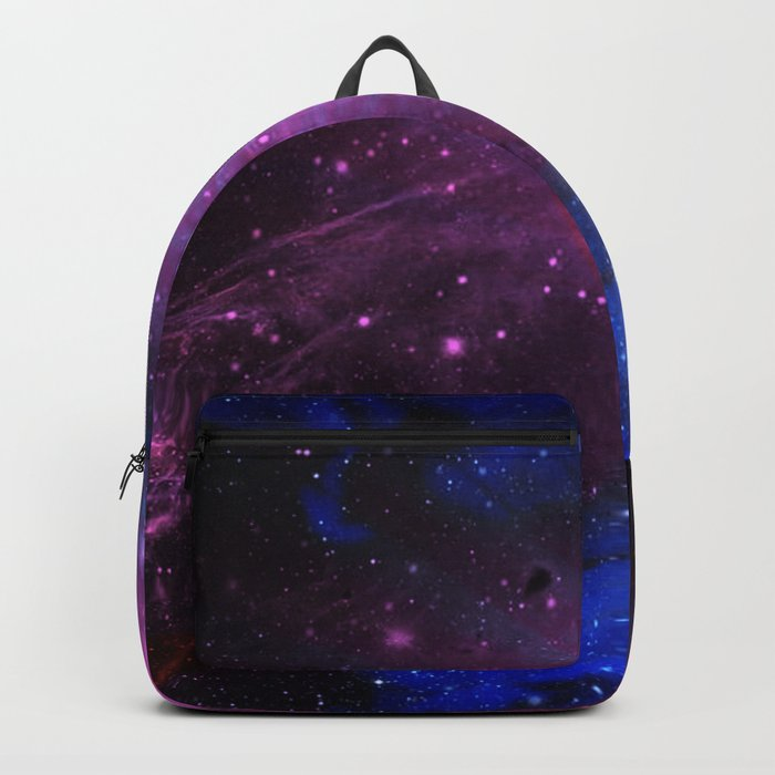 Pink N Blue Floral Space Explosion Backpack
