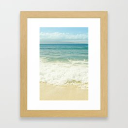 Ocean Beach Love Kapalua Blue Maui Hawaii Framed Art Print