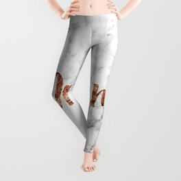 Rose gold marble dream Leggings