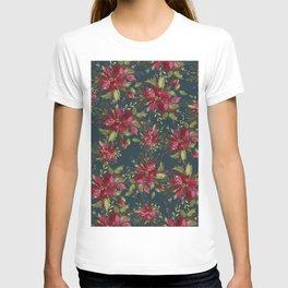 Poinsettia Pattern II T-shirt