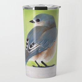 Bluebird and Blossoms Travel Mug