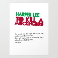 to kill a mockingbird Art Prints featuring To Kill A Mockingbird by FunnyFaceArt