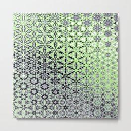 Agender Pride Gradient Kaleidoscope Pattern Metal Print